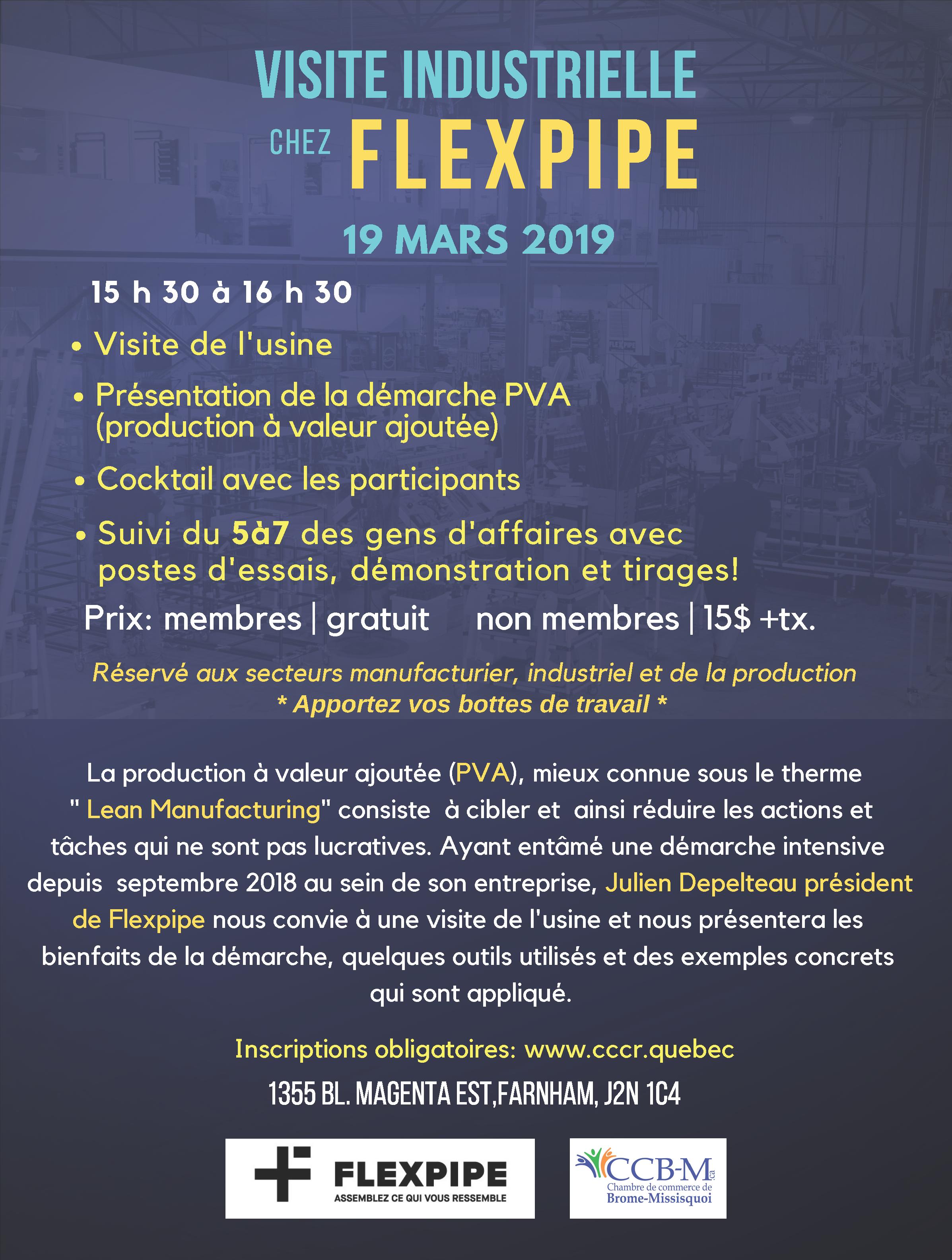 Visite Industrielle Chez Flexpipe